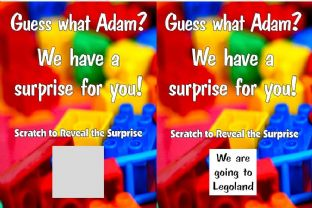 Personalised Legoland Holiday Reveal Scratch Card
